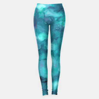 Thumbnail image of Dreamy Ocean Abstract Painting #2 #ink #decor #art  Leggings, Live Heroes