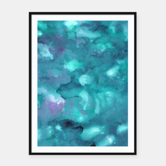 Thumbnail image of Dreamy Ocean Abstract Painting #2 #ink #decor #art  Plakat mit rahmen, Live Heroes