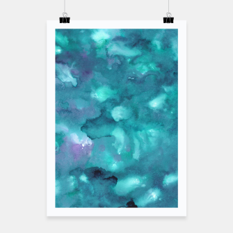 Thumbnail image of Dreamy Ocean Abstract Painting #2 #ink #decor #art  Plakat, Live Heroes