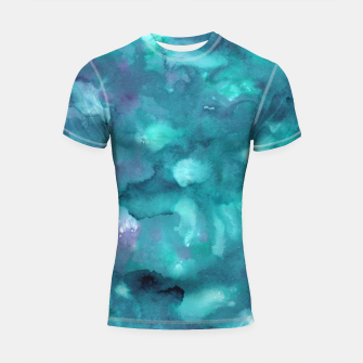 Thumbnail image of Dreamy Ocean Abstract Painting #2 #ink #decor #art  Shortsleeve rashguard, Live Heroes
