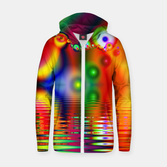 Thumbnail image of Reflection Zip up hoodie, Live Heroes