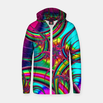Thumbnail image of Fractal Chaos Zip up hoodie, Live Heroes