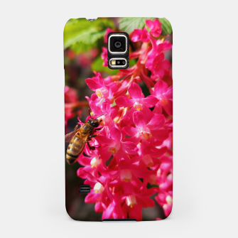 Miniaturka Bee and Blood Currant Ribes Sanguineum std Samsung Case, Live Heroes