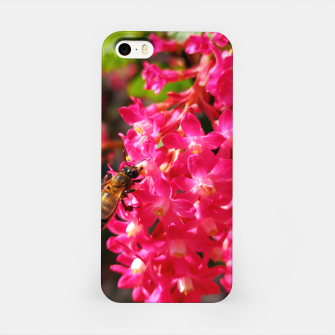 Miniaturka Bee and Blood Currant Ribes Sanguineum std iPhone Case, Live Heroes
