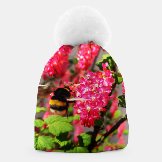 Miniaturka Bumble Bee and Blood Currant Ribes Sanguineum std Beanie, Live Heroes