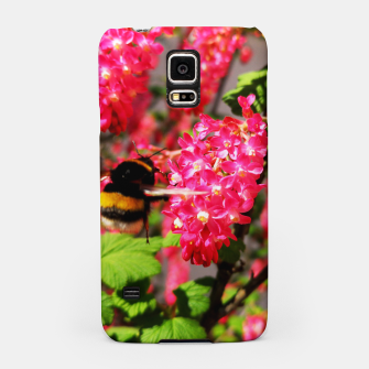 Miniaturka Bumble Bee and Blood Currant Ribes Sanguineum std Samsung Case, Live Heroes
