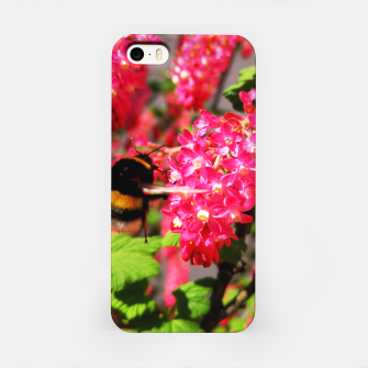 Miniaturka Bumble Bee and Blood Currant Ribes Sanguineum std iPhone Case, Live Heroes