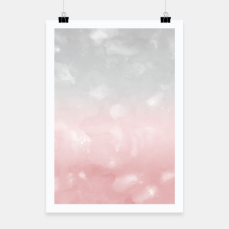 Thumbnail image of Touching Blush Gray Abstract Painting #1 #ink #decor #art Plakat, Live Heroes