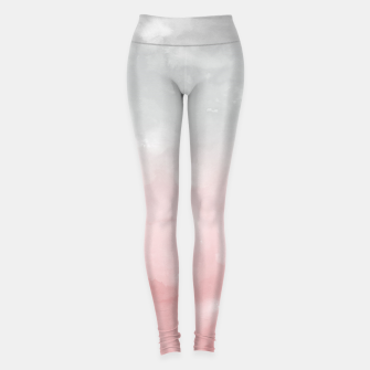 Thumbnail image of Touching Blush Gray Abstract Painting #1 #ink #decor #art Leggings, Live Heroes