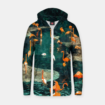 Miniatur Flamingo Creek Zip up hoodie, Live Heroes