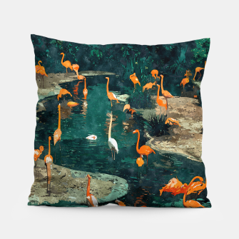 Miniatur Flamingo Creek Pillow, Live Heroes