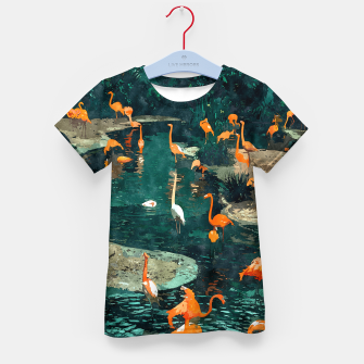 Miniatur Flamingo Creek Kid's t-shirt, Live Heroes
