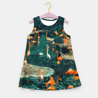 Miniatur Flamingo Creek Girl's summer dress, Live Heroes