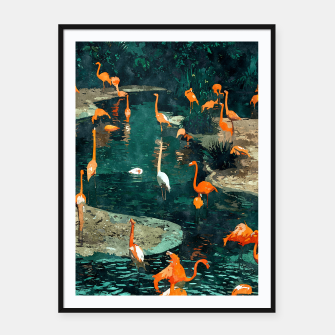 Miniatur Flamingo Creek Framed poster, Live Heroes