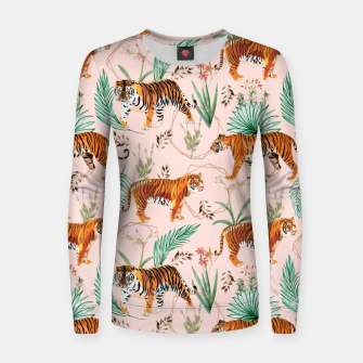 Thumbnail image of Tropical and Tigers Women sweater, Live Heroes