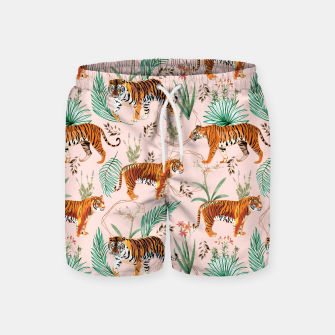 Miniatur Tropical and Tigers Swim Shorts, Live Heroes