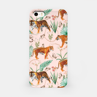 Miniatur Tropical and Tigers iPhone Case, Live Heroes