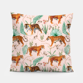 Miniatur Tropical and Tigers Pillow, Live Heroes