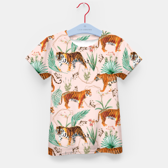 Miniatur Tropical and Tigers Kid's t-shirt, Live Heroes