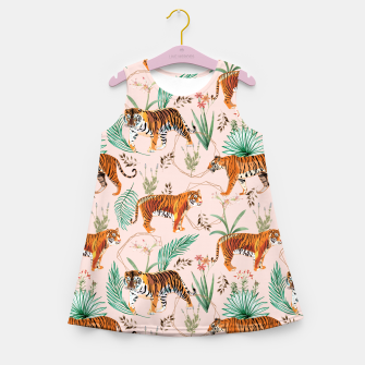 Miniatur Tropical and Tigers Girl's summer dress, Live Heroes
