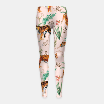 Miniatur Tropical and Tigers Girl's leggings, Live Heroes
