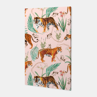 Miniatur Tropical and Tigers Canvas, Live Heroes