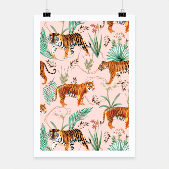 Miniatur Tropical and Tigers Poster, Live Heroes