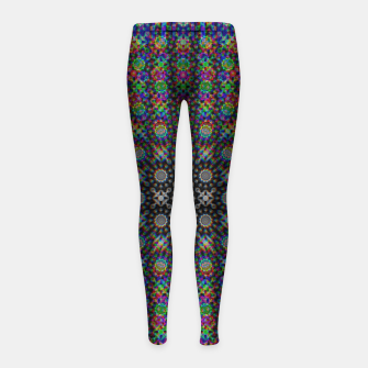 Thumbnail image of Psychedelic Kaleidoscope Girl's leggings, Live Heroes
