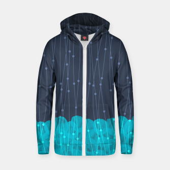Thumbnail image of Icy Petals Zip up hoodie, Live Heroes