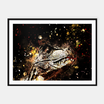 tyrannosaurus rex wssepia Framed poster thumbnail image
