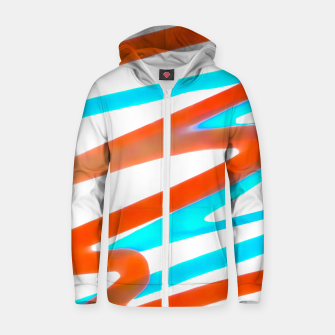 Miniaturka Colored Abstract Print Design Zip up hoodie, Live Heroes