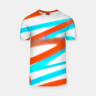 Miniatur Colored Abstract Print Design T-shirt, Live Heroes