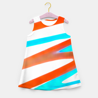 Miniaturka Colored Abstract Print Design Girl's summer dress, Live Heroes