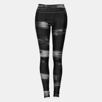 Thumbnail image of Brushstrokes Abstract Minimalism #1 #minimal #decor #art Leggings, Live Heroes