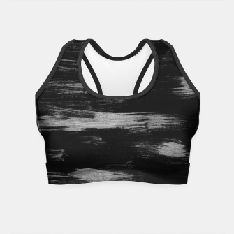 Thumbnail image of Brushstrokes Abstract Minimalism #1 #minimal #decor #art Crop Top, Live Heroes