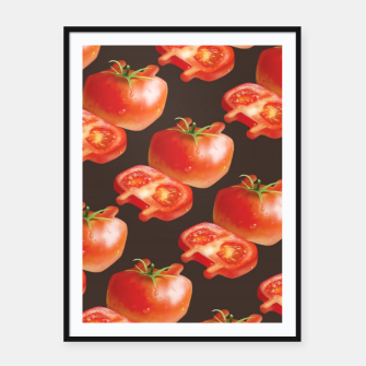 Thumbnail image of Tomato Pattern Framed poster, Live Heroes