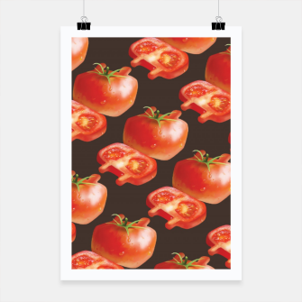 Thumbnail image of Tomato Pattern Poster, Live Heroes