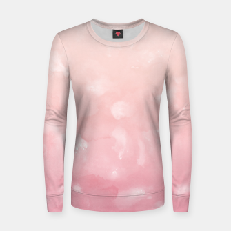 Thumbnail image of Touching Coral Pink Abstract Painting #1 #ink #decor #art  Frauen sweatshirt, Live Heroes