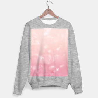 Thumbnail image of Touching Coral Pink Abstract Painting #1 #ink #decor #art  Sweatshirt regulär, Live Heroes