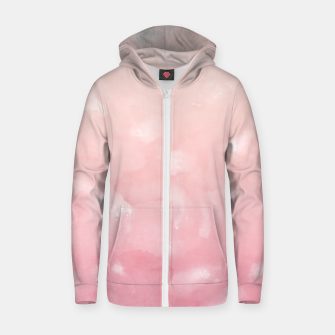 Thumbnail image of Touching Coral Pink Abstract Painting #1 #ink #decor #art  Reißverschluss kapuzenpullover, Live Heroes