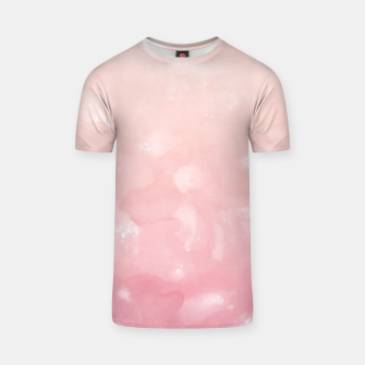 Thumbnail image of Touching Coral Pink Abstract Painting #1 #ink #decor #art  T-Shirt, Live Heroes