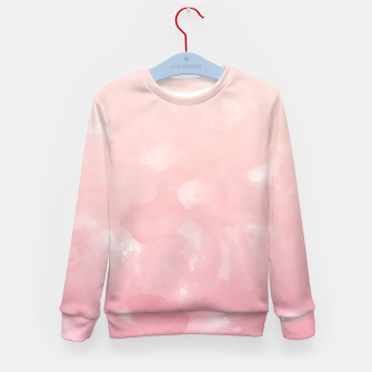 Thumbnail image of Touching Coral Pink Abstract Painting #1 #ink #decor #art  Kindersweatshirt, Live Heroes