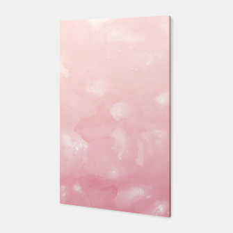Thumbnail image of Touching Coral Pink Abstract Painting #1 #ink #decor #art  Canvas, Live Heroes