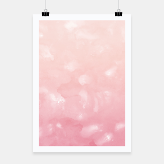 Thumbnail image of Touching Coral Pink Abstract Painting #1 #ink #decor #art  Plakat, Live Heroes