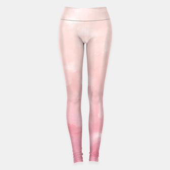 Thumbnail image of Touching Coral Pink Abstract Painting #1 #ink #decor #art  Leggings, Live Heroes