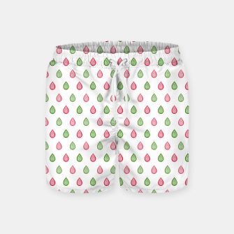 Thumbnail image of Green and pink raindrops pattern Swim Shorts, Live Heroes