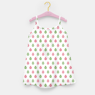 Thumbnail image of Green and pink raindrops pattern Girl's dress, Live Heroes