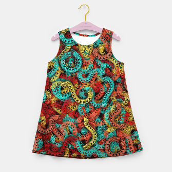 Miniature de image de Quetzalcoatles Girl's summer dress, Live Heroes