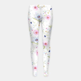 Thumbnail image of Floral Pattern Girl's leggings, Live Heroes