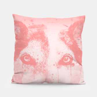 Thumbnail image of lying dog close-up view wspw Pillow, Live Heroes